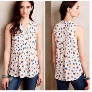 Anthropologie Maeve strawberries blouse